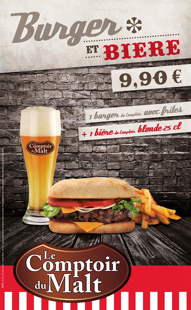 Burger et biere